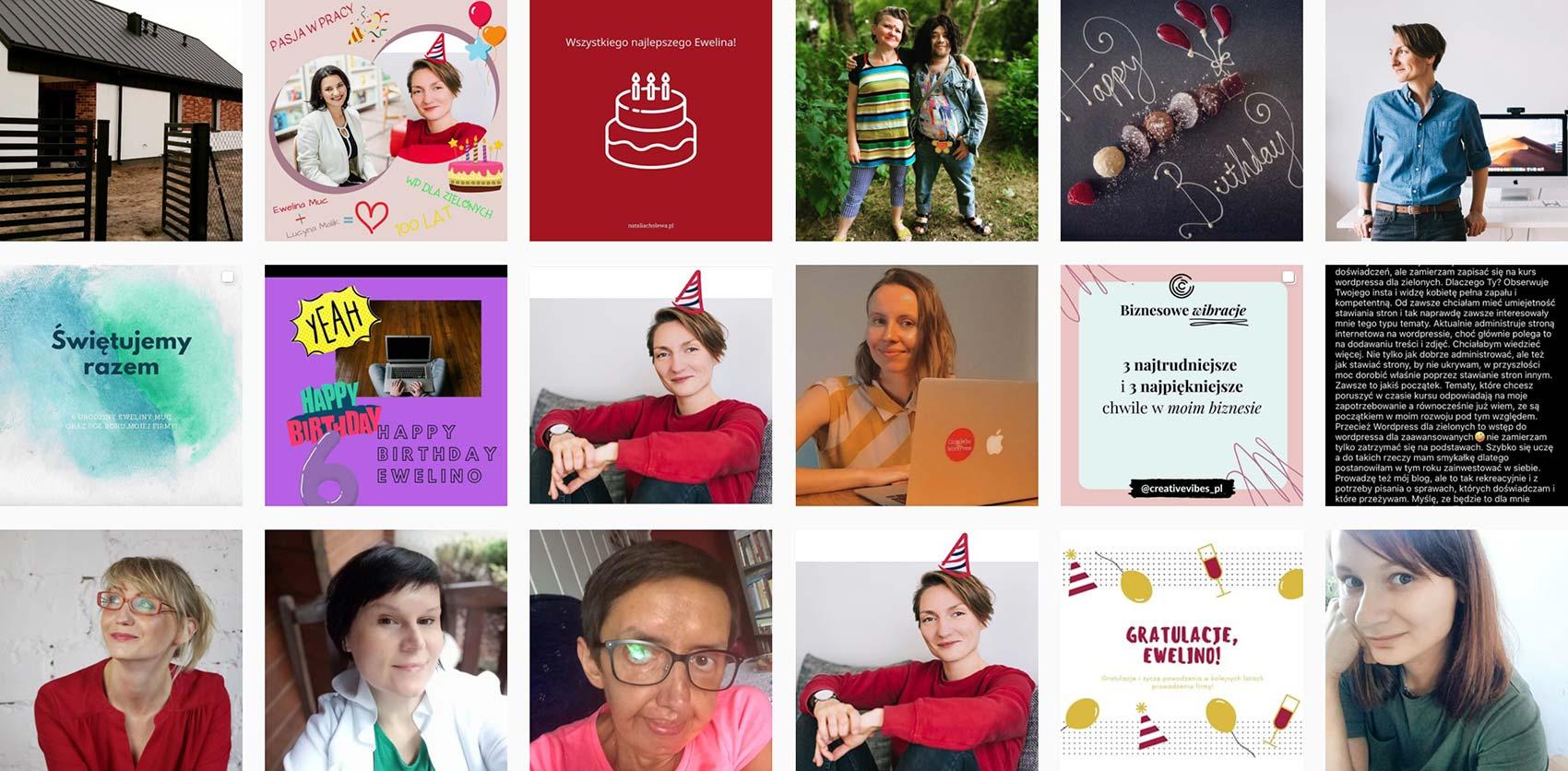 Ewelina Muc - 6. urodziny firmy - posty w akcji